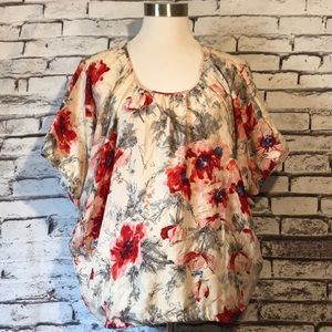 CAbi Floral Silk Shirt